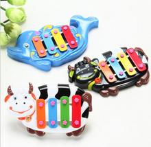 Classic toys! Infant baby cartoon percussion instruments, children's toys piano four syllables Noise Maker, free shipping