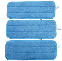 "4pcs 5""x14""  13cmx36cm  30g Dusting & Cleaning Microfiber Mop Pads Replacement w/ Velcro Mops Refill"