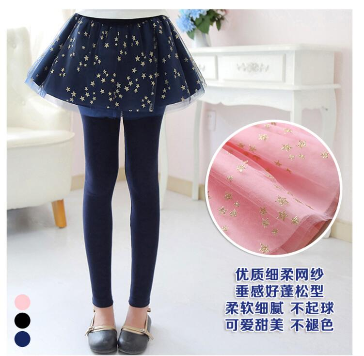 Spring Autumn 18 New Girls Leggings Girls Skirt-Pants Kid Pants Fashion Cake Skirt Girl kids Leggings Trousers Leggings Pants 9