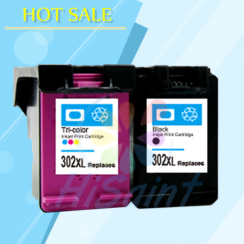 hisaint 2PK for HP302XL 302 Ink Cartridge for HP 302 XL Deskjet 1110 1111 1112 2130 2131 Officejet 3630 3830 4650 ENVY 4520 4522