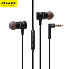 Awei ES-70TY In-Ear Earphone Metal Stereo Headset Heavy Bass Sound for iPhone Samsung Phones(China)