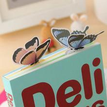 5 Pcs Butterfly Style Bookmark Teacher's Gift Book Marker Stationery Gift Realistic Cute Kawaii Cartoon 3d  Paper Bookmarks