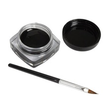professional 1x eyeliner gel cream with brush makeup black waterproof eye liner foundation brush
