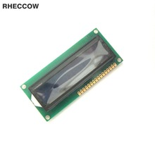 RHECCOW 5v 1601 16X1 16*1 80*36 Character LCD Module Display LCM blue blacklight white character for raspberry pi(China)
