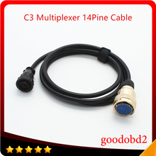 Auto Diagnostic Cable for Benz MB Star C3 14PIN Cable for C3 Multiplexer Accessories Adapter Cable(China)
