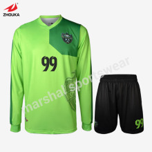 China wholesale quick dry 100%polyester long sleeve soccer uniform for men,full sublimation custom
