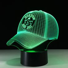 Baseball Cap LED 3D Night Light Colorful Sports Hat Desk Lamp Visual USB Xmas Red Sox Bedside Decor Lampara Light Fixture Gifts(China)