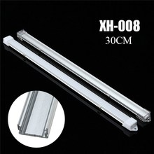 30cm/50cm Milky/Transparent Cover Aluminum LED Bar Light Channel Holder Cover for LED Strip Light(China)