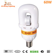 Hot saes!! 60W 4800lm china energy saving lamp induction bulb lamp E27 85Ra 100,000hrs cold warm white color nduction light