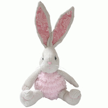 25 cm Cute rabbit plush doll pink rabbit doll baby doll gift can be customized(China)