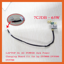 LAPTOP Dc AC POWER Jack Power Charging Board  (With Cable) DC Connector for For HP DV9000 DV9500 DV9700 7CJBD-65W ,FREE SHPPING