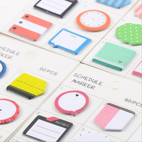 Korean Creative Kawaii Memo Pads Cute Index Post-it Sticky Notes School Study Schedule Marker Paper Self-Adhesive Notepads