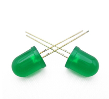 250PCS x 10mm Jade Green Diffused Superbright Long Leg Round DIP Light-Emitting Diode LED Lamp Through Hole Bulb Light 3V