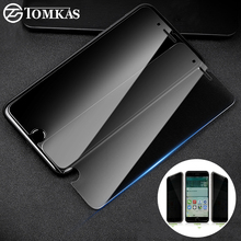 Tomkas Anti Spy Tempered Glass For iPhone 5 5s SE 6 6s 7 8 Plus Screen Protector Privacy Film For iPhone 5 6 7 8 Plus Glass(China)