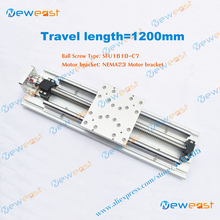 DIY CNC part 1200mm Travel Length linear Stage Slide Module Linear Module Actuator System with SFU1610 ballscrews(China)