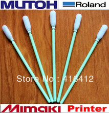 POST Free Shipping - 500 pcs  plastic stick foam swabs for printer head cleaning