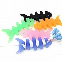 Cute Fish Headphone Earphone Charge Cable Winder Cord Organizer Holder Stand for iPhone iPod Mp3 Samsung Wire Wrap Fixer Manager