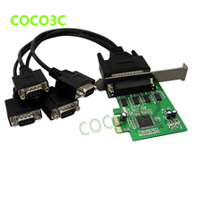 MOSCHIP MCS9904 PCI express 4 ports Serial card PCI-e 1x Multi RS232 DB9 COM port adapter PCIe I/O Card with low profile bracket