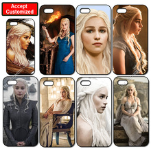 Daenerys Game of Throne Cover Case for iPhone 4 4S 5 5S SE 5C 6 6S 7 8 Plus X iPod Touch 5 LG G2 G3 G4 G5 G6