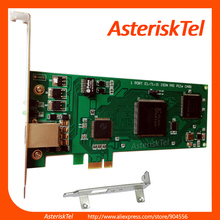 Asterisk card E1 card with Low Profile for 2U server,PCI-E connector 1 port T1 card,TE110 ISDN PRI card supports asterisk(China)
