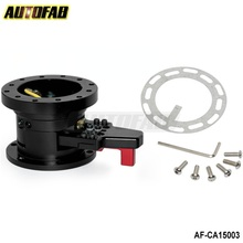 AUTOFAB - STEERING WHEEL BLACK QUICK RELEASE TILT SYSTEM JDM RACE/RACING AF-CA15003(China)