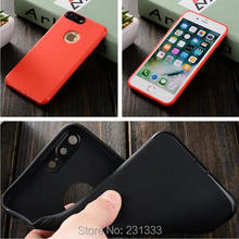 For Iphone 7 7plus I7 6 6S I6 Soft TPU Case With Dust Plug Silicone GEL Round Hole Glossy Rubber Phone Skin Cover Luxury 15pcs