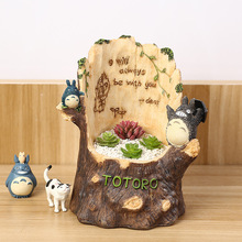Japan zakka Diy totoro stump Vine Palace Miero Landscape figures model handicraft collectible gift for Christmas(China)