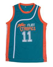 Mounttop 11# Green White Jackie Moon Flint Tropical Throwback Jerseys Retro Basketball Movie Jersey Cool Shirt Stitched Jersey M