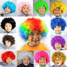 2016 New Halloween Christmas Hats Costume Hair Wig Football Fan Wig Clown Hair wigs Child Adult Colorful masquerade Party Hair