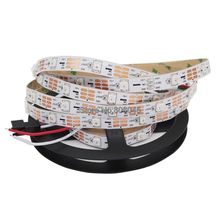 5M DC5V WS2812B Built-in WS2811 IC 30LED/M RGB Dream Color Individually Addressable Pixel Strip White PCB IP20 Non-waterproof