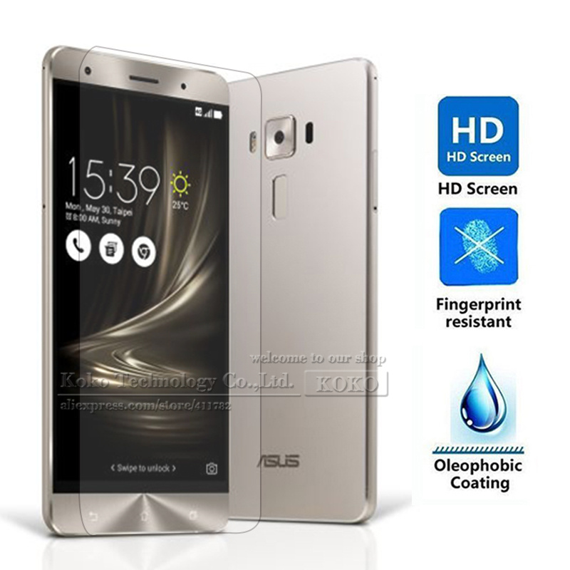 Amazing 9H Anti-Explosion Tempered Glass Screen Protector for Asus Zenfone 3 ZE552KL Protective Films Free Cleaning tools(China (Mainland))