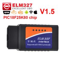 A+Quality ELM327 Wifi V1.5 PIC18F25K80 OBD2 OBDII auto Code Reader Super Mini ELM 327 OBD 2 scanner Android/IOS Diagnostic-Tool