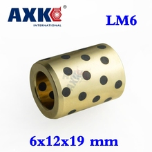 Buy 2018 Real Sale 4pcs 6x12x19 Mm Linear Graphite Copper Set Bearing Bushing Oil Self-lubricating Jdb Free Shipping Lm6uu Lm6 6mm