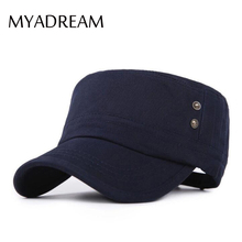 MYADREAM Flat Top Military Hats for Men Women Summer Bone Cap Gorras Militares Hombre Military Cap Army Casquette Toca Hat