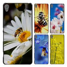 Bees and Flowers Style Case Cover for Sony Ericsson Xperia X XZ XA XA1 M4 Aqua E4 E5 C4 C5 Z1 Z2 Z3 Z4 Z5(China)