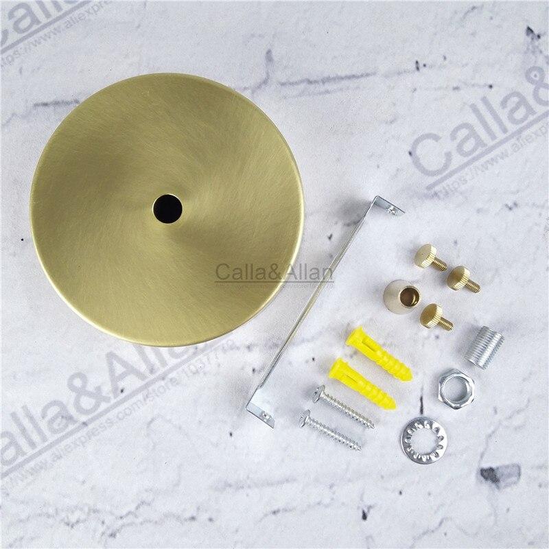 sample order D100mm*H25mm brass material ceiling plate DIY pendant light canopy copper ceiling mount beside screw brass base<br>