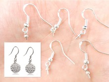 100PCS Wholesale NEW 100PCS Findings 925 Sterling Silver French Hook Pinch Bail Ear Wires