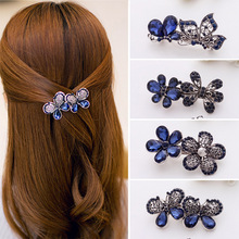 yiwu Small commodities Headwear wholesale peacock set auger Lady Beautiful hair clip women A word hairpin Hair headwear headband