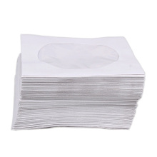 95Pcs/Lot Mini CD Protective Bag Orgnizer White Paper Bag Mini CD DVD Disc Storage Bag Protector Case Envelopes Flap