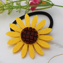 Big Daisy Flowers Elastic Hair Bands Hairpins Barrettes Cute Girls Headwear Sunflower Hair Accessories for Women Clips Ponytail
