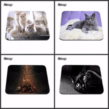 Fat Cat 4pcs Cheap And Good Sleep New Arrivals Best Sales Customized Mouse Pad Animals  Computer Notebook Rectangle Rubber Mous