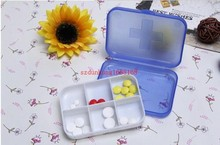 1000pcs Pill cases 6 Cells Mini Pill Storage Box Plastic Cases for Medicine Drug Jewelry Organizers Medication pill box(China)