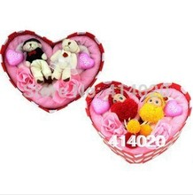 Iron Heart Box Cartoon Gift Cake Towel, Candy Wedding &party Towels , Every Occasion Suitable Multifunction(China)