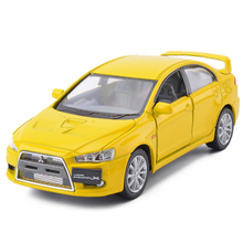 High Simulation KiNSMART 1:38 Mitsubishi Lancer EVO Alloy Metal Diecast Car Model With Pull Back For Kids Toys Free Shipping(China)