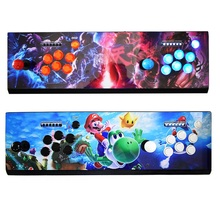 Box Pandora 7 2177  Arcade Console USB Joystick Arcade Buttons With Light 2 Players Control Retro 3D Arcade Game Box(China)