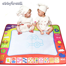 Abbyfrank 60*80cm Doodle Mat Drawing Board For Children Early Educational Toys With Drawing Water Pens Learning Toys Magic Mat