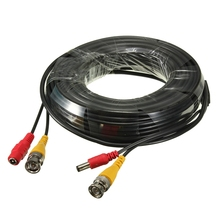 Hot Sale 18M CCTV Cable 2 in 1 Camera BNC Video Power Coaxial Cable DC Plug To RCA Cables For CCTV Security Camera DVRs TV