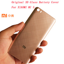 Original XIAOMI MI 5 3D Glass Replacement Battery Cover , Smooth Skin Housing Back Door Hard case