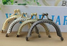 20pcs/lot DIY Cute 6.5cm 4 Color mixed Metal Purse Frame Handle for Bag Sewing Craft Tailor Sewer(China)