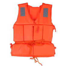 Universal Children Adult Life Vest Jacket Swimming Boat Beach Outdoor Survival Emergency Aid Safety Jacket for Kid with Whistle(China)